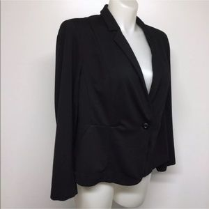 Lane Bryant 22 Black Long Sleeve Stretch Blazer